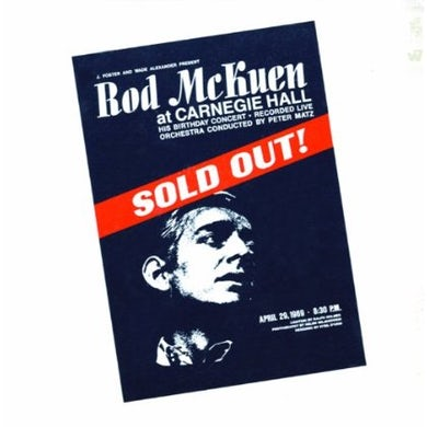Rod McKuen SOLD OUT AT CARNEGIE HALL CD