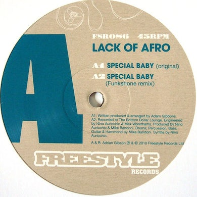 Lack Of Afro SPECIAL BABY Vinyl Record