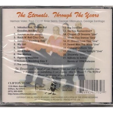 Eternals THROUGH THE YEARS CD