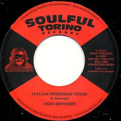 Enzo Bontempi ITALIAN SPIDERMAN THEME Vinyl Record