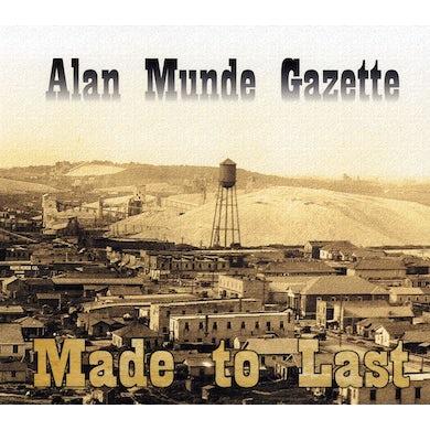Alan Munde MADE TO LAST CD