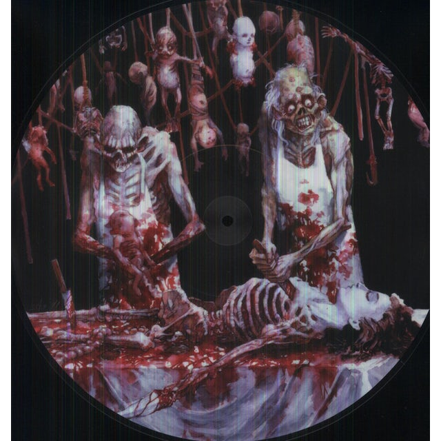 Cannibal Corpse BUTCHERED AT BIRTH Vinyl Record - Limited Edition, Picture Disc