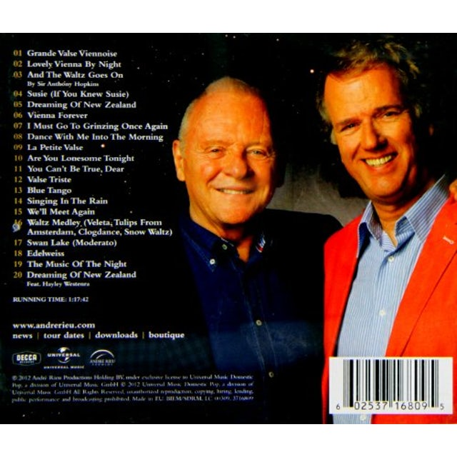 Andre Rieu AND THE WALTZ GOES ON CD