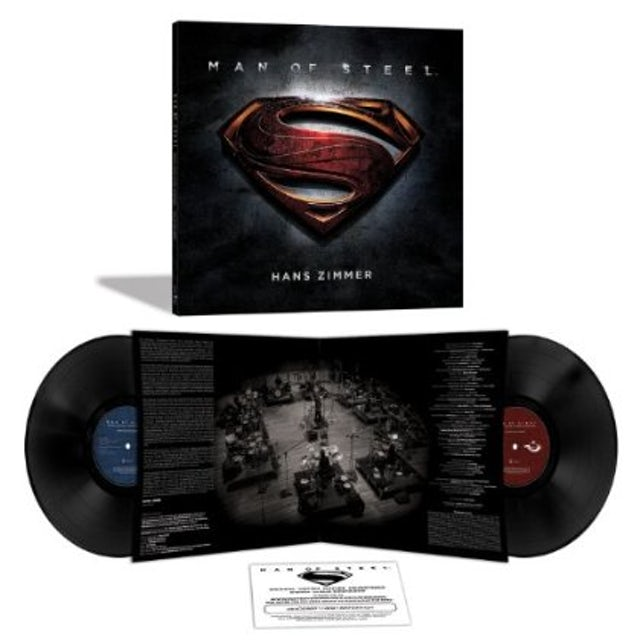 Hans Zimmer MAN OF STEEL (SCORE) / O.S.T. Vinyl Record - Limited Edition, 180 Gram Pressing