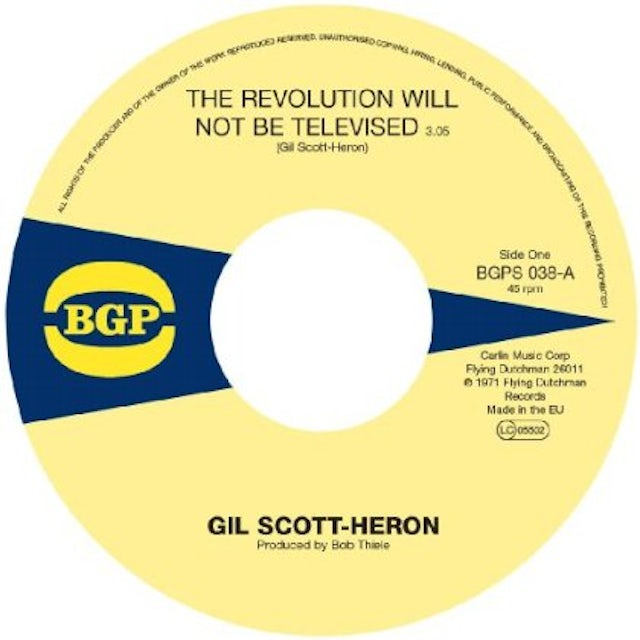 Gil Scott-Heron REVOLUTION WILL NOT BE TELEVISED / HOME IS WHERE Vinyl Record