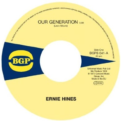 Ernie / The Blackbyrds Hines OUR GENERATION / ROCK CREEK PARK Vinyl Record
