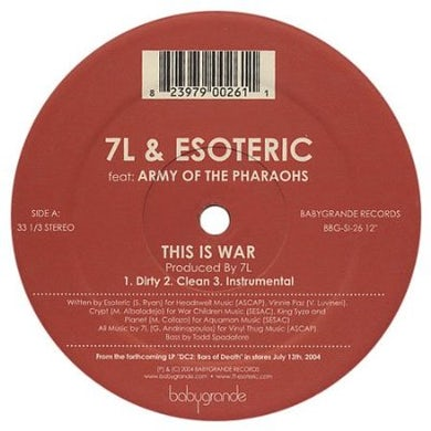 7L & Esoteric THIS IS WAR Vinyl Record