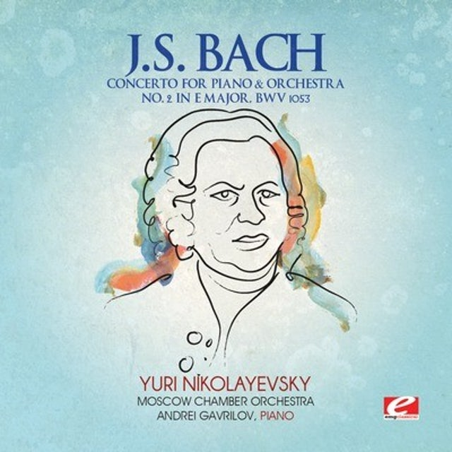 J.S. Bach CONCERTO FOR PIANO & ORCHESTRA 2 IN E MAJOR CD
