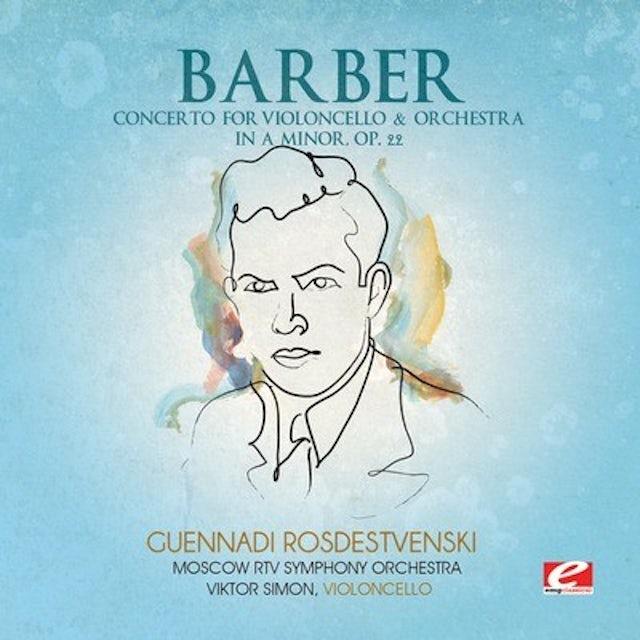 Barber CONCERTO VIOLONCELLO & ORCHESTRA IN A MINOR CD