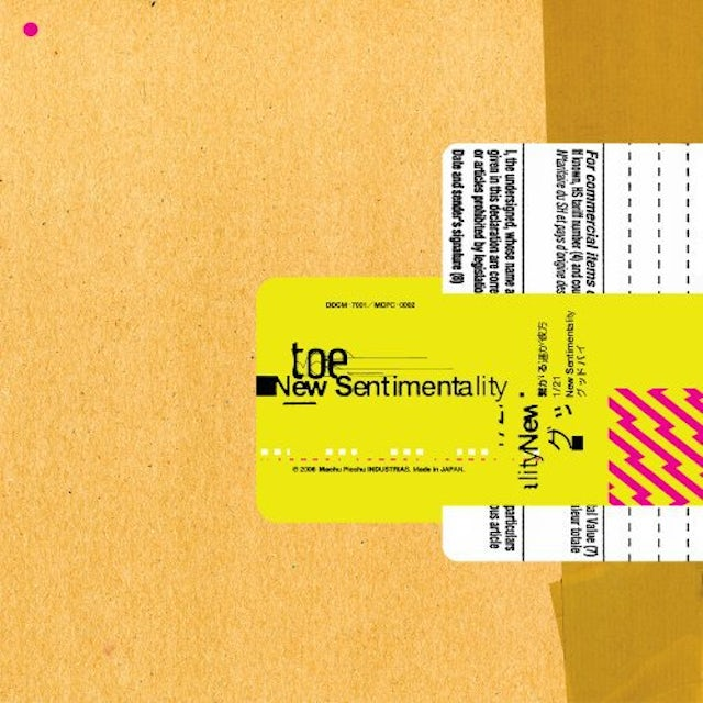 Toe NEW SENTIMENTALITY Vinyl Record