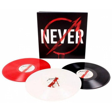METALLICA THROUGH THE NEVER Vinyl Record - Red, White & Black Colored Triple Vinyl Edition