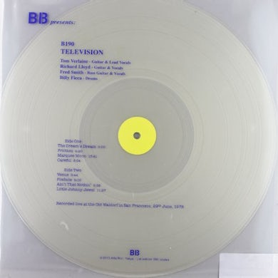 Television LIVE AT THE OLD WALDORF JUNE 29 1978 Vinyl Record - Italy Release