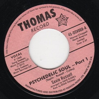 Saxie/Saxie'S Sessionairs Russell PSYCHEDELIC SOUL PT. 1/PSYCHEDELIC SOUL PT. 3 Vinyl Record