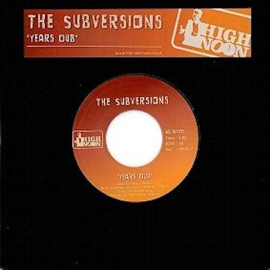 Subversions YEARS DUB Vinyl Record - UK Release
