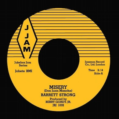 Barrett Strong MISERY/LET'S ROCK Vinyl Record - UK Release