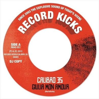 Calibro 35 GIULIA MON AMOUR/NOTTE IN BOVISA Vinyl Record