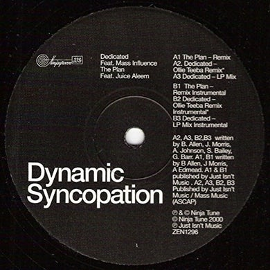 Dynamic Syncopation PLAN Vinyl Record - UK Release