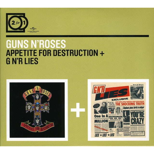 Guns N' Roses APPETITE FOR DESTRUCTION / G N R LIES CD