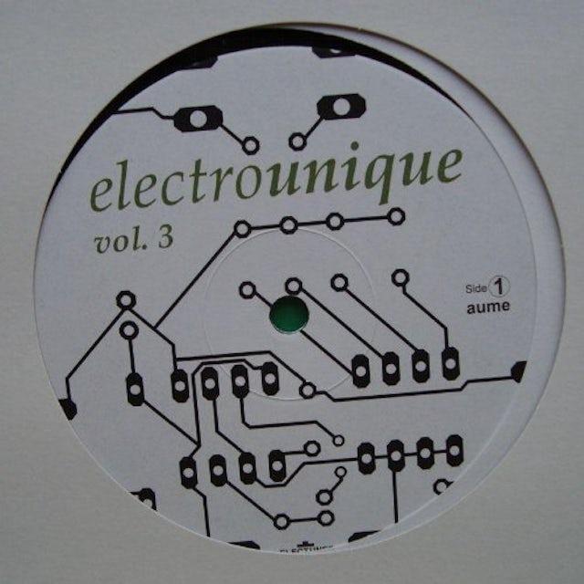 ELECTROUNIQUE 3 / VARIOUS Vinyl Record - UK Release