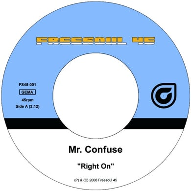 Mr. Confuse RIGHT ON Vinyl Record - UK Release
