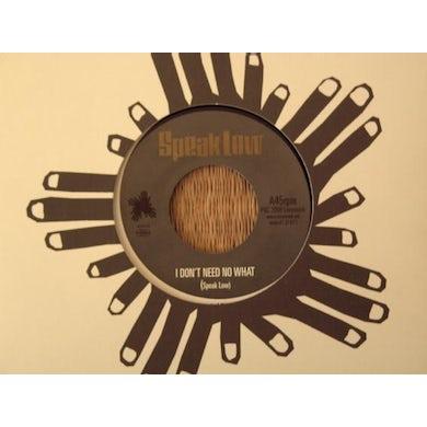 Speak Low SOUL IS WHAT I GOT Vinyl Record - UK Release
