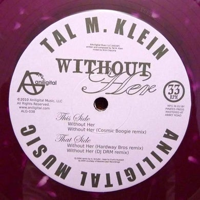 Tal M. Klein WITHOUT HER Vinyl Record - UK Release