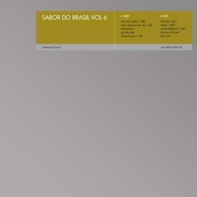 SABOR DO BRASIL VI / VARIOUS Vinyl Record - UK Release