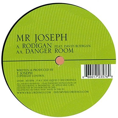Mr Joseph RODIGAN/DANGER ROOM Vinyl Record