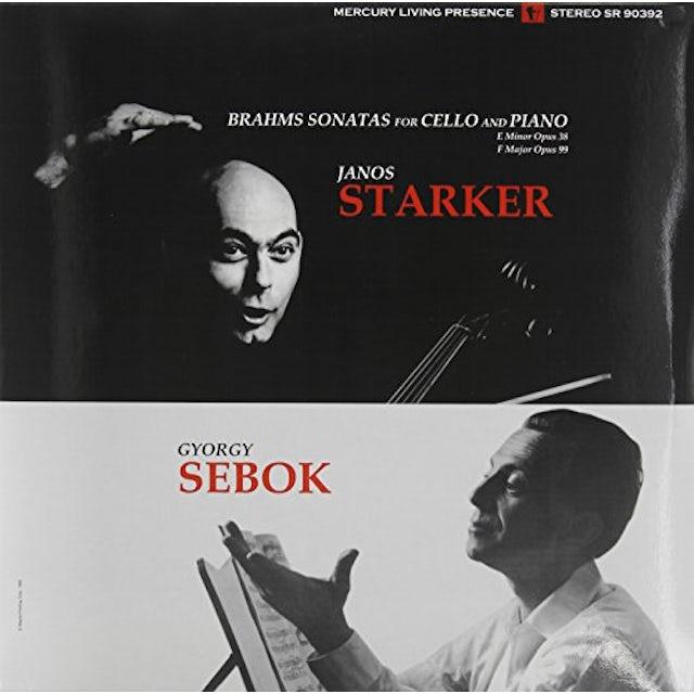 Brahms / Starker / Sebok SONATAS FOR CELLO & PIANO 1 & 2 Vinyl Record