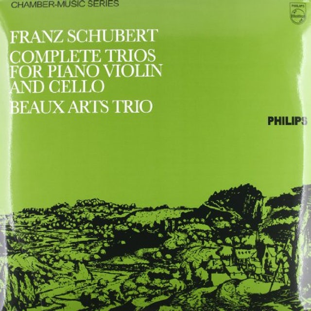 Schubert / Beaux Arts Trio COMPLETE TRIOS FOR PIANO VIOLIN & CELLO Vinyl Record