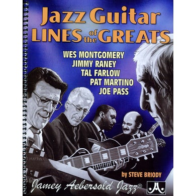 Jamey Aebersold JAZZ GUITAR LINES OF THE GREATS CD