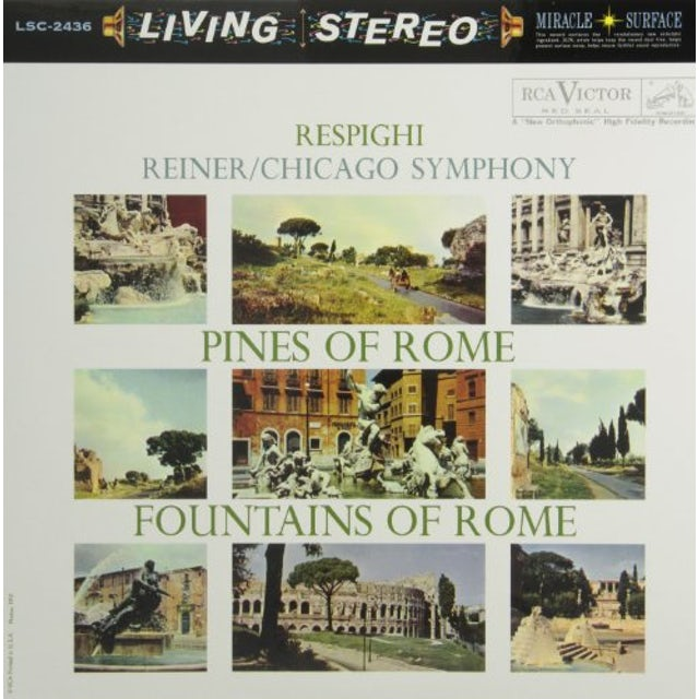 Fritz Reiner RESPIGHI-PINES OF ROME / FOUNTAINS OF ROME Vinyl Record