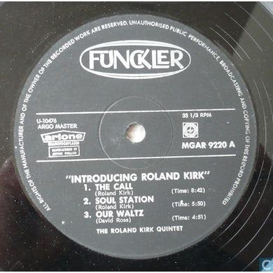 Roland Kirk INTRODUCING Vinyl Record