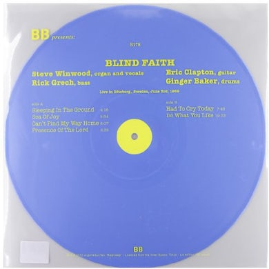 Blind Faith LIVE IN GOTEBORG SWEDEN 1969 Vinyl Record