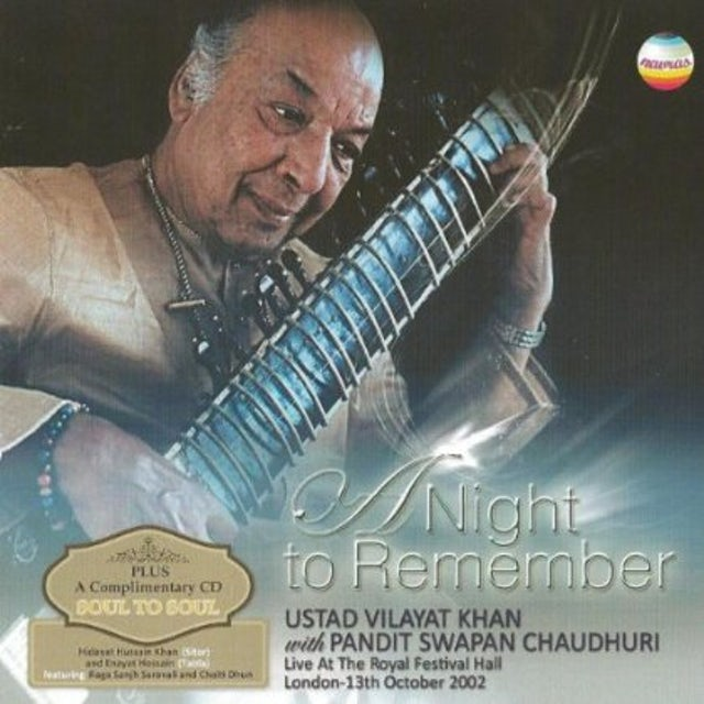 Vilayat Khan NIGHT TO REMEMBER:LIVE AT THE ROYAL FESTIVAL HALL CD