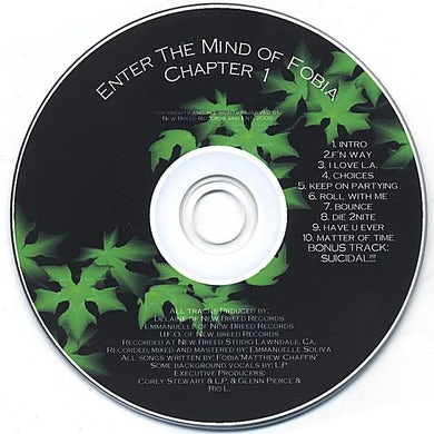 ENTER THE MIND OF FOBIA CH. 1 CD