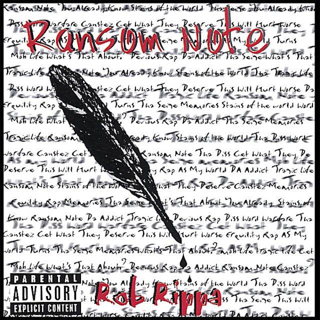 ROB RIPPA RANSOM NOTE CD