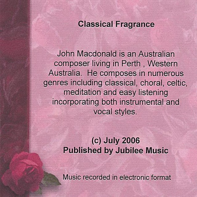 John MacDonald CLASSICAL FRAGRANCE CD