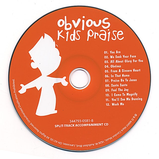 Mark Condon OBVIOUS KID'S PRAISE SPLIT-TRACK CD