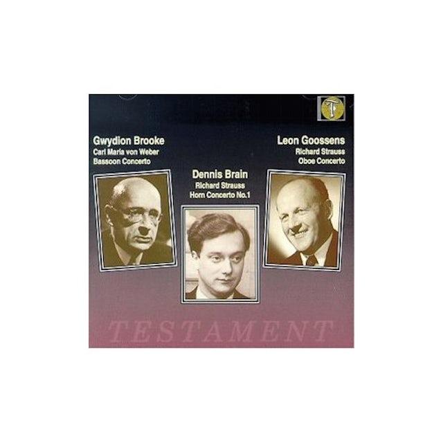 R. Strauss HORN CONCERTO OBOE CONCERTO CD