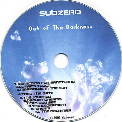 Subzero OUT OF THE DARKNESS CD