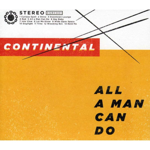 Continental ALL A MAN CAN DO CD