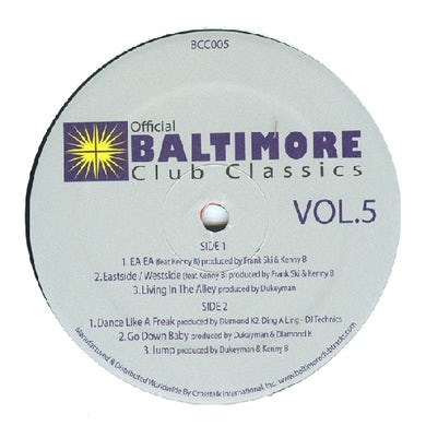 Baltimore Club Classics 5 / Var Vinyl Record