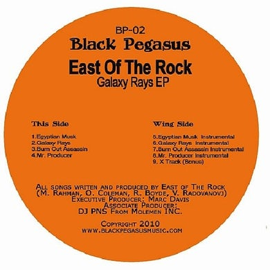East Of The Rock GALAXY RAYS Vinyl Record