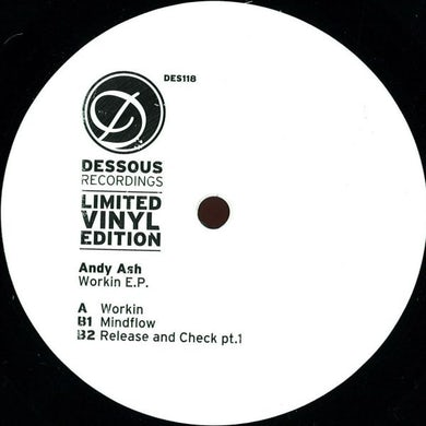 Andy Ash WORKIN EP Vinyl Record