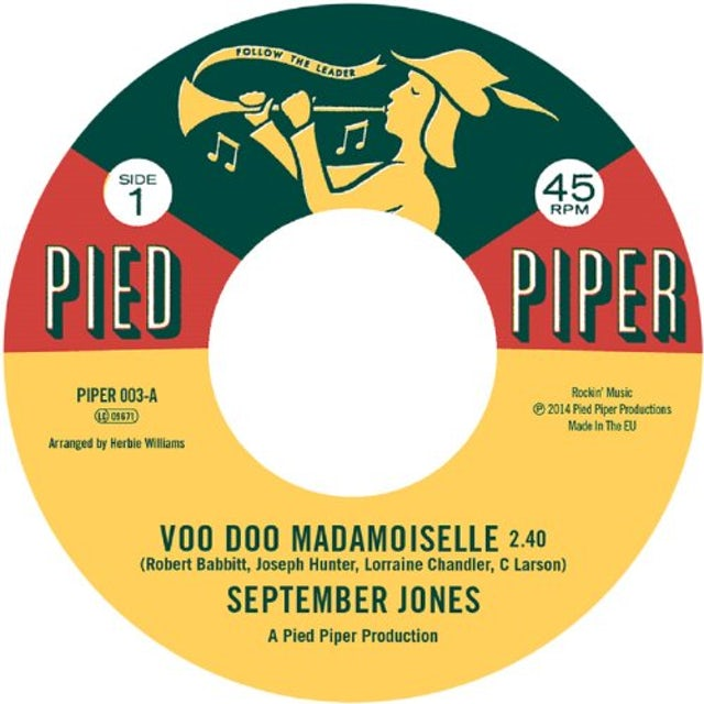 September Jones VOO DOO MADEMOISELLE Vinyl Record