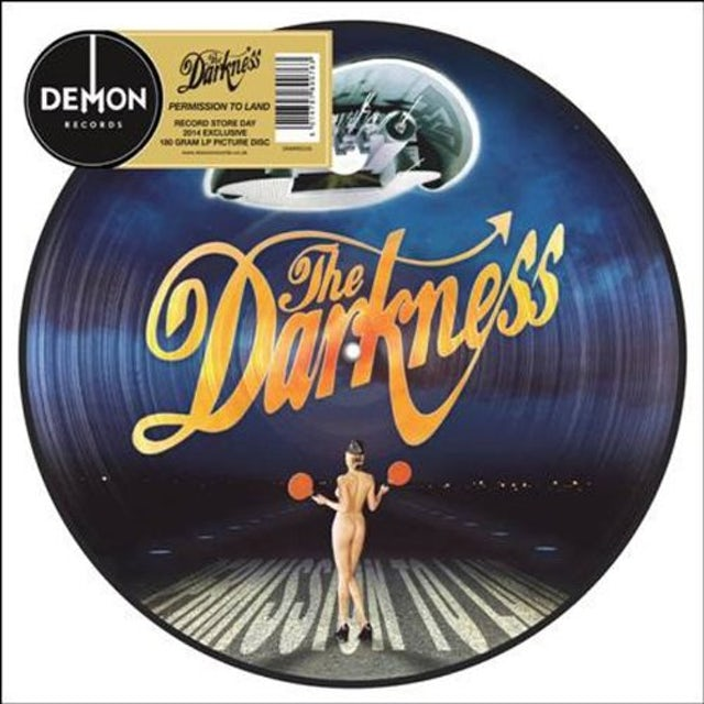 The Darkness PERMISSION TO LAND PICTURE DISC Vinyl Record