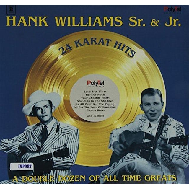 Hank Williams, Jr. 24 KARAT HITS Vinyl Record