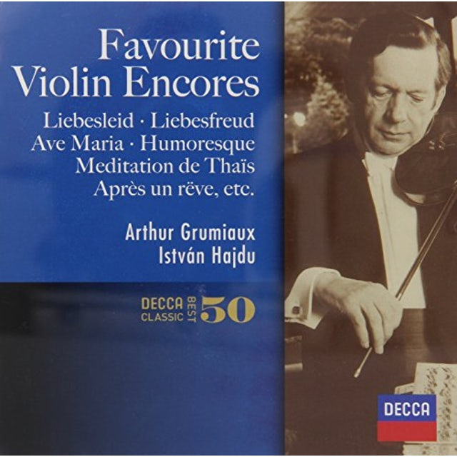 Arthur Grumiaux FAVOURITE VIOLIN ENCORES CD