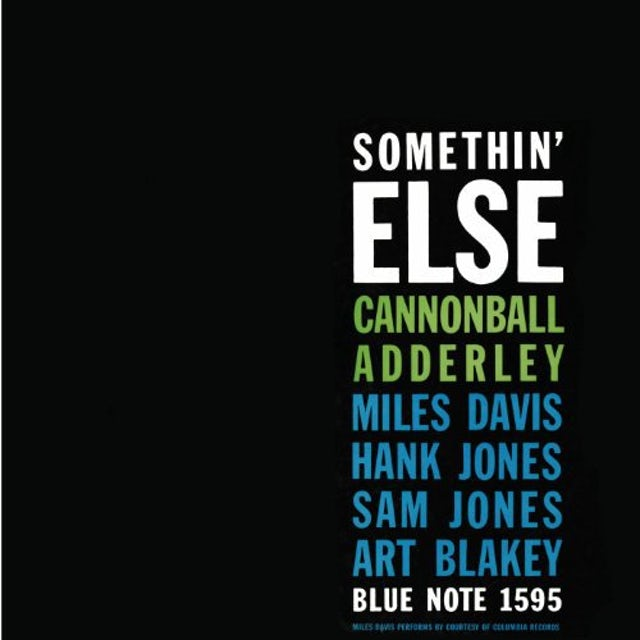 Cannonball Adderley SOMETHIN ELSE Vinyl Record